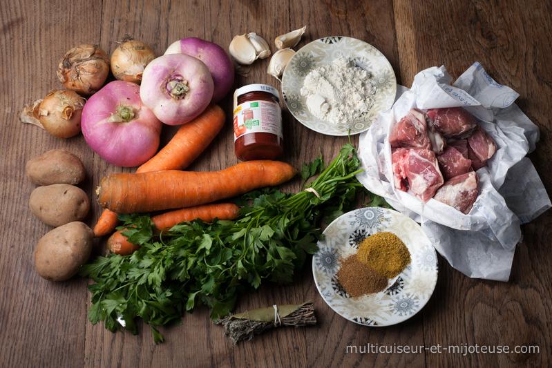 Ingrédients pour le navarin d'agneau