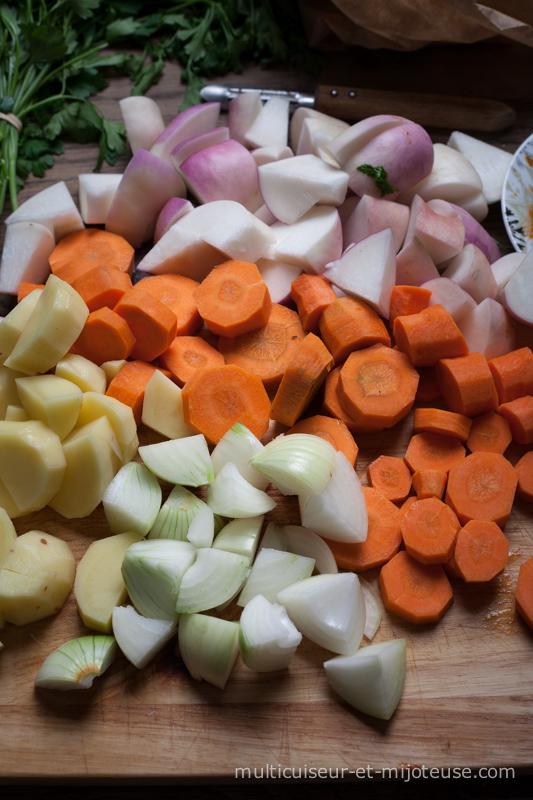 Découpez tous les légumes