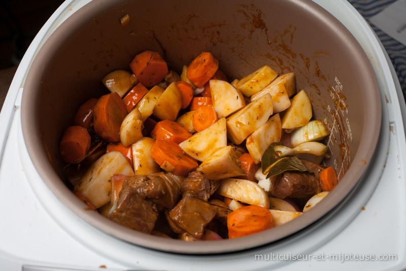 Agneau et légumes au multicuiseur