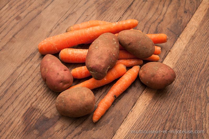 Purée de carottes et pommes de terre au multicuiseur