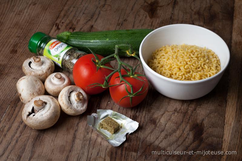 Ingrédient pour le One-Pot Pasta