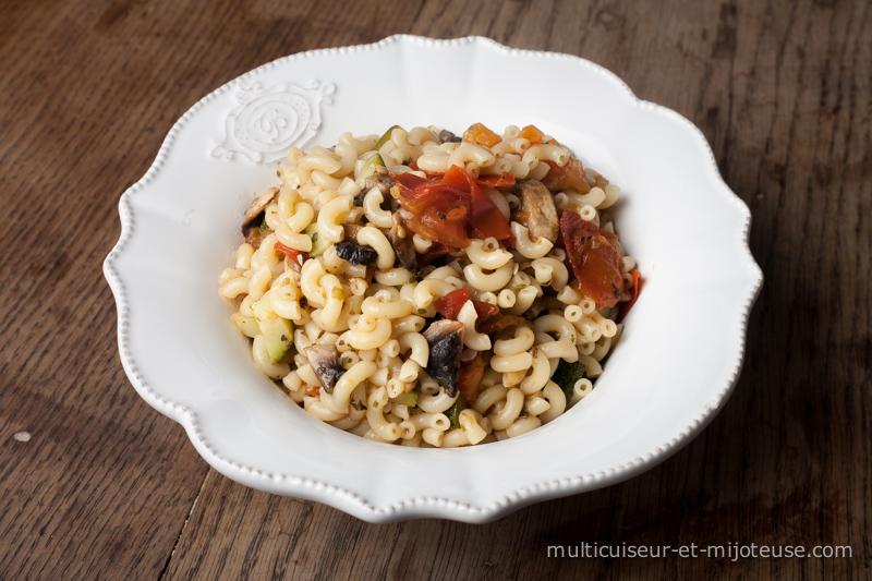 One-pot-pasta : coquillettes aux légumes d'été