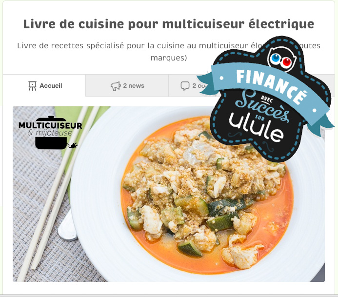 Campagne Ulule - Livre multicuiseur