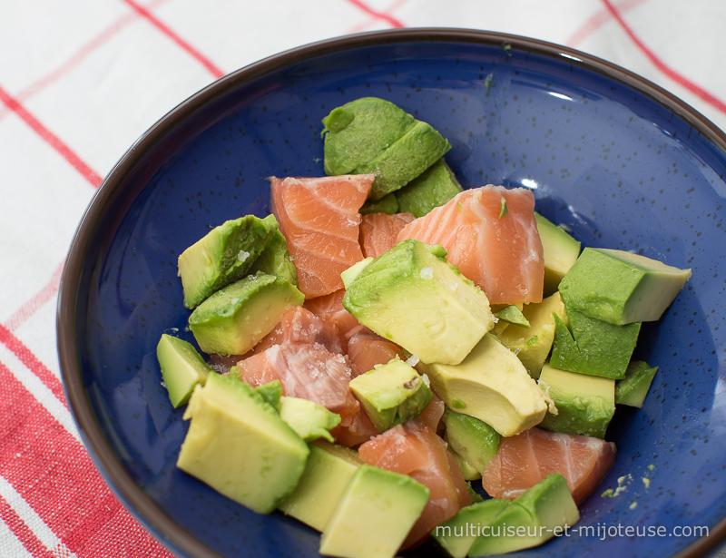 Avocat et saumon