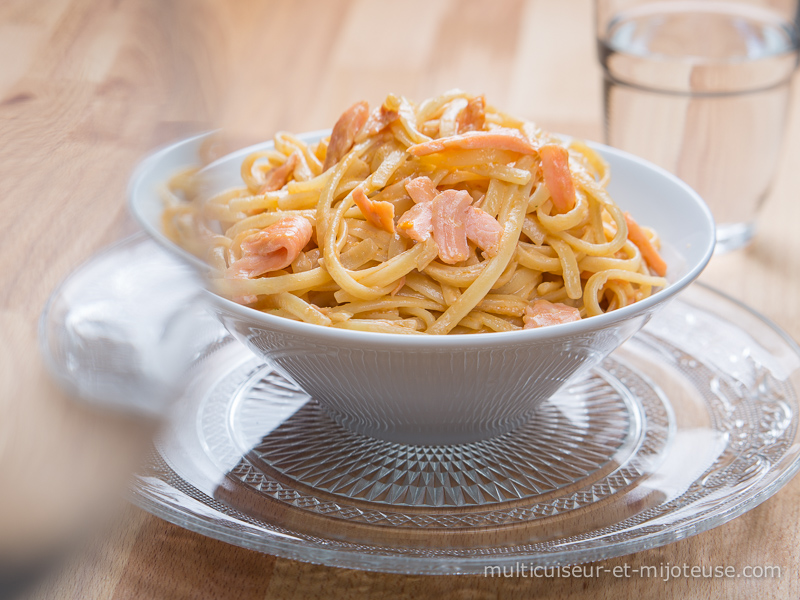 One-Pot Pasta au saumon fumé