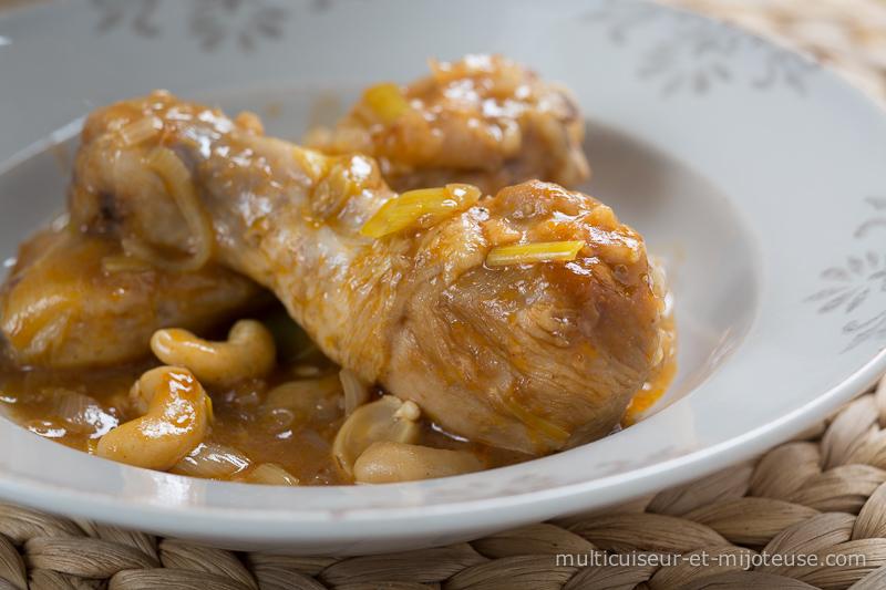 Pilons de poulet, sauce noix de cajou
