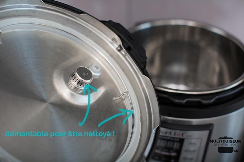 Couvercle du multicuiseur : démontable pour être nettoyé